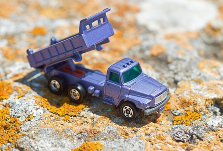 hauler: Toy truck on a sunny day