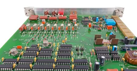 semi conductor: Closeup of electronic circuit board