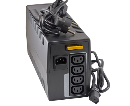 UPS (Uninterruptible Power Supply) on white background