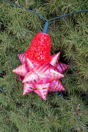 glitzy: Close-up of very beautiful Christmas-tree decorations Stock Photo