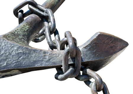 convoy: Anchor and anchor chain 19 centuries Stock Photo