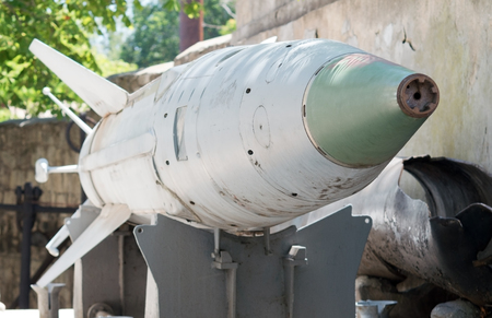 munition: Russian missiles in a museum Stock Photo