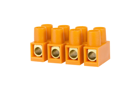 felled: Components for use in electrical installations Stock Photo