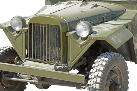 german fascist: Retro (second world war period) car isolated on white Stock Photo