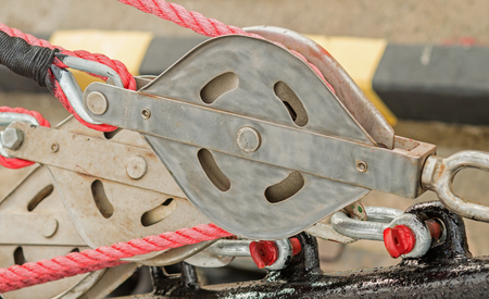 Yacht Pulley Blocks and Ropes
