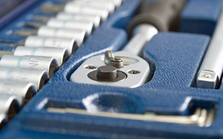 toolbox with different instruments Stock Photo