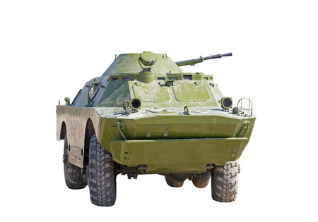 the Russian BRDM on white background Stock Photo