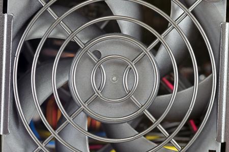 Computer power supply fan