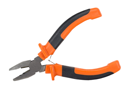communications tools: Pliers isolated on the white background