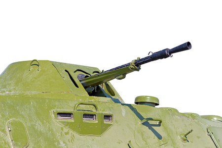 armoured: The BTR-80 is an Russian 8x8 wheeled amphibious armoured personnel carrier