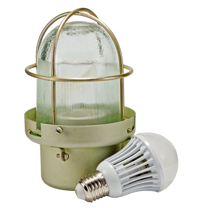 construction lamp isolated over white background