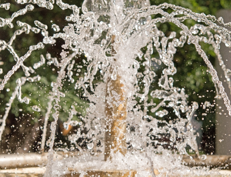 humidifier: The gush of water of a fountain