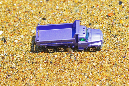 truckload: Toy truck on a sunny day