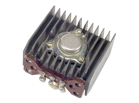 power transistor n a white background