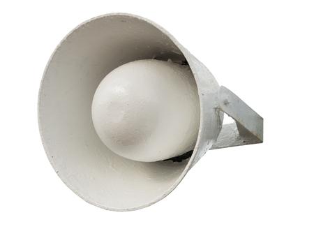 soundsystem: Speaker. Megaphone isolated over white background