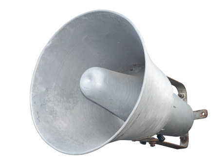 Speaker. Megaphone isolated over white background