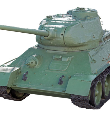 unstoppable: the tank model T - 34 on white background