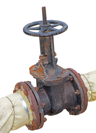 Pipes and Valves on white background