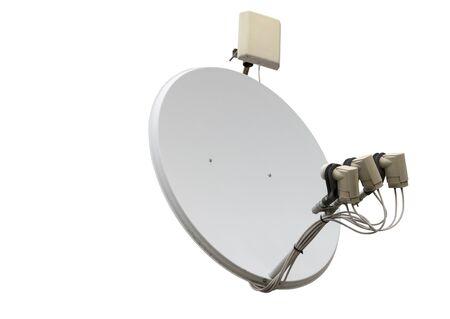 satellite dish antenna isolated on white background