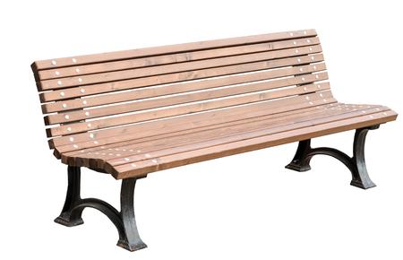 Park Bench Isolated on White Background Standard-Bild