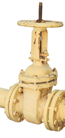 rusts: Pipes and Valves on white background