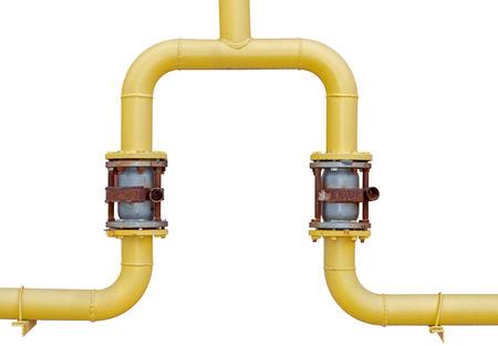 Grands tuyaux industriels sur fond blanc Banque d'images - 80868844