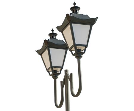 Street lantern  on a white background