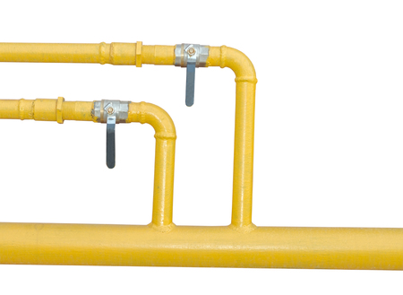 rusts:  large industrial pipes on white background