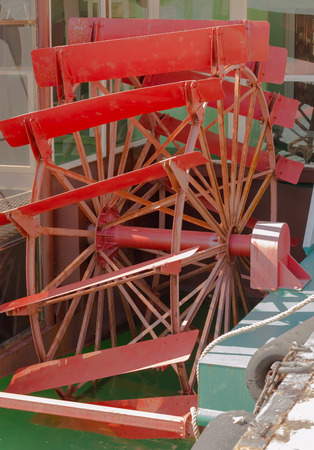 paddle wheel: Paddle Wheel From a Steamboat