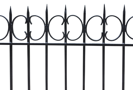 metal grate: Photos wrought iron fence. isolated Stock Photo