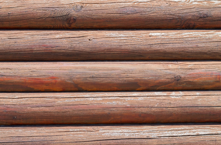 calibrated: Natural background pattern of a log wall Stock Photo