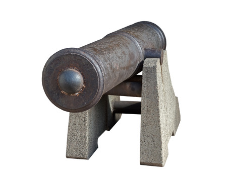 Old gun from the Russian coastal battery