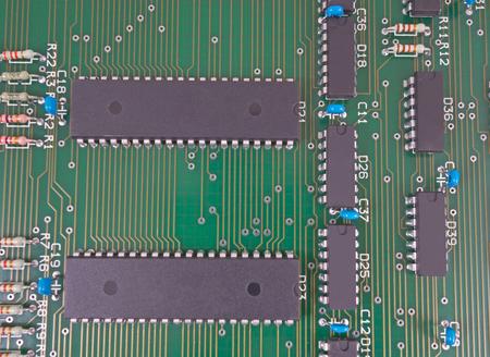 ide: Closeup of electronic circuit board