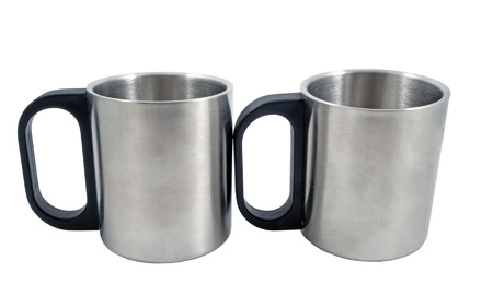 mugs for coffee or tea, isolated on white background Stock Photo
