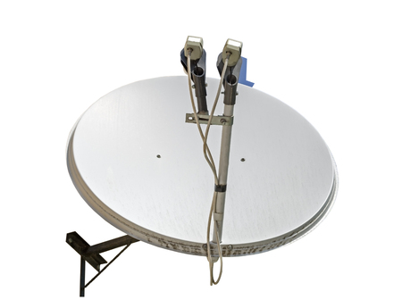 Satellitenschüssel Antenne isoliert auf weißem Hintergrund Standard-Bild - 85038381