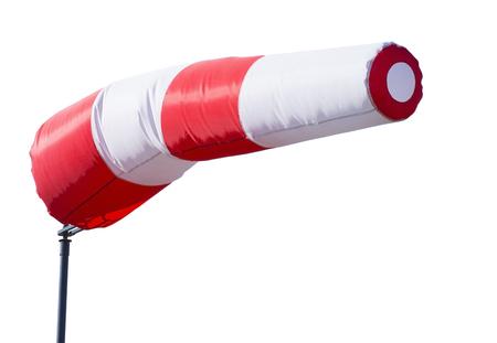 wind sleeve flying on white background