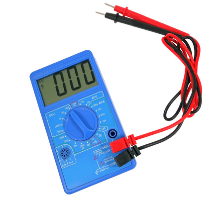 Voltage tester on a white background Stock Photo