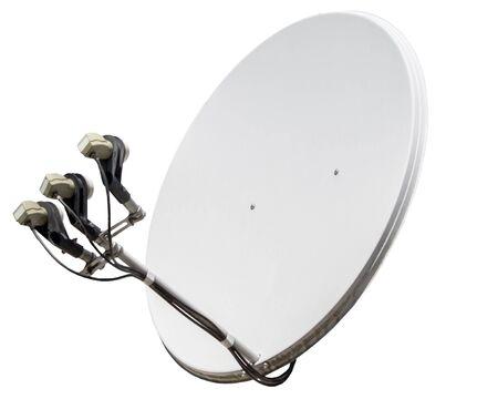 transmit: satellite dish antenna isolated on white background