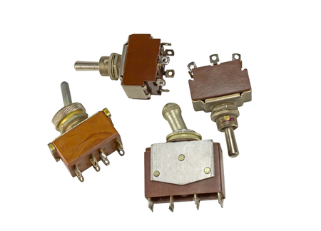 toggle switchs isolated on white background