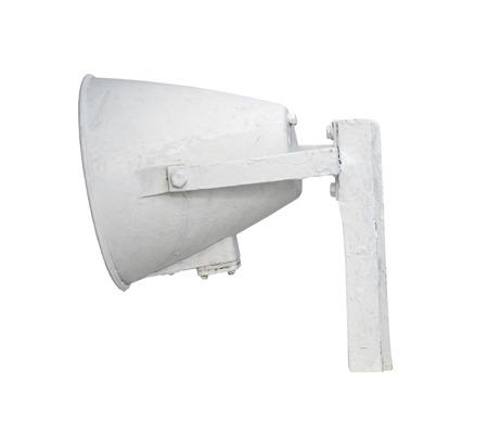 Speaker. Megaphone isolated over white background