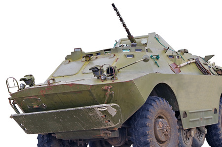 the Russian BRDM on white background Stok Fotoğraf