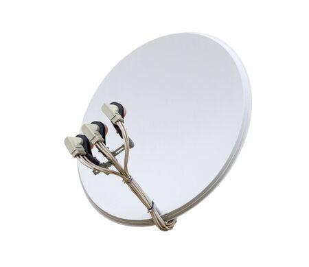 satellite dish antenna isolated on white background   Stock Photo