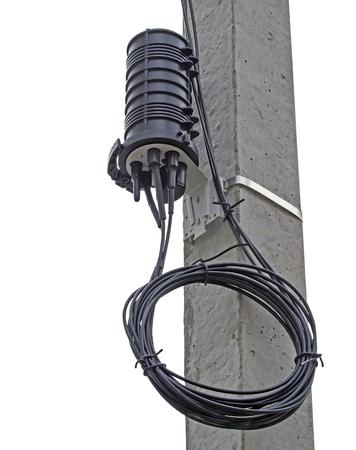 Closure Optical Fiber on white background