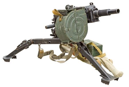 Automatic grenade launcher AGS-17 Flame isolated on white background Stock Photo