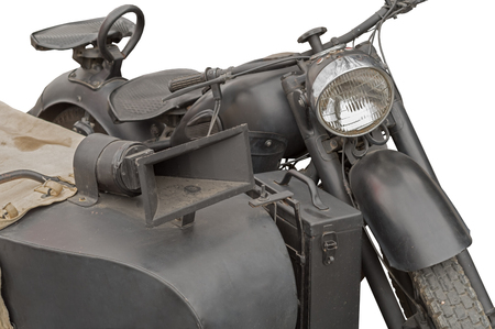 old motorcycle on white background Stock Photo