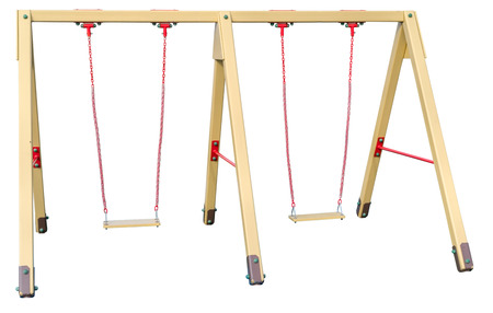 the new chain swings hanging on white background