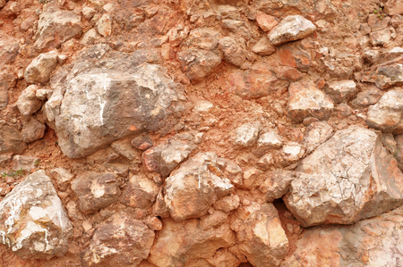 The close-up relief of the rocks