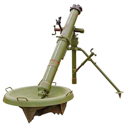The 120-mm mortar cannon gun 2B11 Sani on white background 写真素材