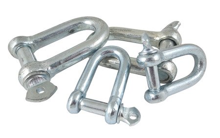 the Threaded shackles on a white background