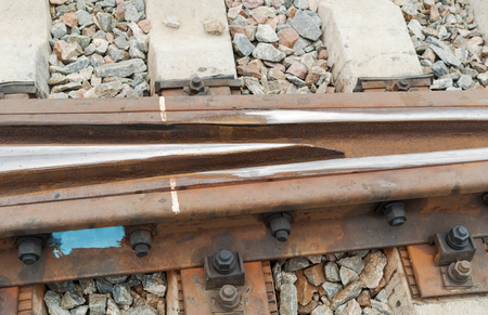 Railway Tracks and Switch near Train Station